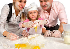 Family cooking  together Royalty Free Stock Photos