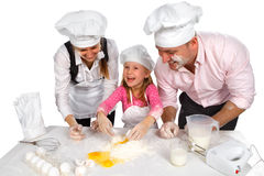 Family cooking  together Stock Photo