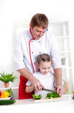 Family cooking together Stock Image