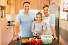 Family cooking together Royalty Free Stock Photography