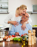 Family cooking together at home Royalty Free Stock Photo