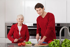 Family cooking Royalty Free Stock Image