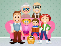 Family on the couch Royalty Free Stock Photography
