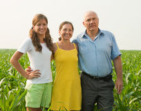 Family on countryside Royalty Free Stock Image