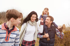 Family On Countryside Walk Royalty Free Stock Images