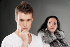Family couple has quarreled Royalty Free Stock Photography