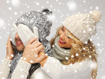 Family couple in a winter clothes Stock Photography