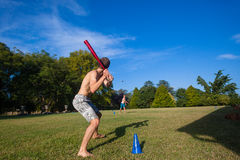 Play Baseball Pitch Home Royalty Free Stock Image