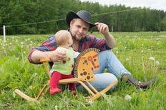 Family cowboy style Royalty Free Stock Photo
