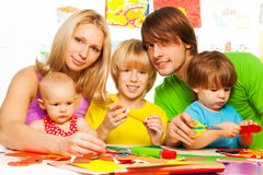 Family and craft Stock Image