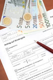 Family credit application Stock Image