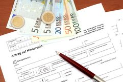Family credit application Stock Photography