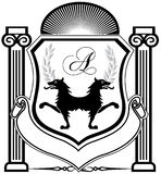 Family crest line art Royalty Free Stock Photo