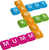 Family crossword Royalty Free Stock Photo