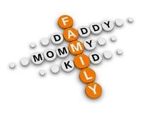 Family crossword Stock Image