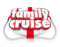 Family Cruise Boat Ride Vacation Holiday Together Life Preserver Royalty Free Stock Image