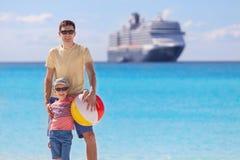 Family cruising stock image