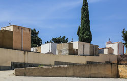 Family crypts in the town cemetery near Agrigento, Sicily Stock Image