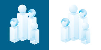 Family crystal icon Royalty Free Stock Photo