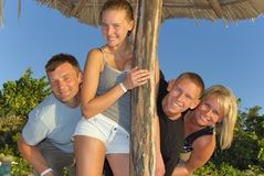 Family in Cuba Royalty Free Stock Images