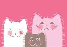 Family of cute funny cats Royalty Free Stock Photo