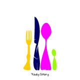 Family of Cutlery, color Royalty Free Stock Photo