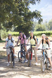 Family Cycling Through Countryside Royalty Free Stock Photo