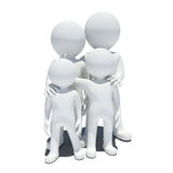 Family 3d white people Stock Images