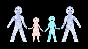 Family With 2 Dads-Animated-Transparent stock video footage