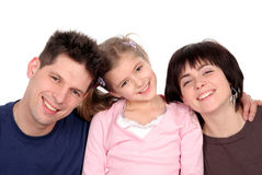 Family With Daughter Royalty Free Stock Images