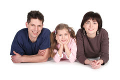 Family With Daughter Stock Images