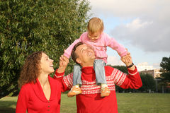Family with the daughter Stock Photography