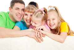 Family with  daughters Royalty Free Stock Photo