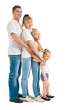 Family with daughters royalty free stock photography