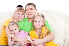 Family with daughters Stock Photography