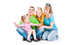 Family with daughters Royalty Free Stock Image
