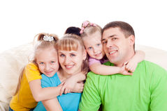 Family with daughters Royalty Free Stock Photos