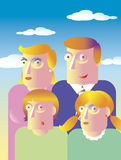 Family Day. Vector illustration of family of four members Royalty Free Stock Image