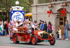 Family day parade at Disney World, Orlando Stock Images