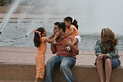Family Day at the Park. Family enjoing a sunday outing at Balboa Park in San Diego Stock Photo