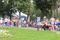 Family Day street party Royalty Free Stock Image
