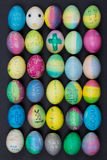 Family Decorated Easter Eggs Royalty Free Stock Images