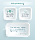FAMILY-dentistry-template-page-booklet Royalty Free Stock Photography