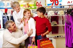 Family in department store Stock Photos
