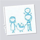 Family design Royalty Free Stock Image