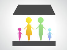 Family design concept background Royalty Free Stock Photo