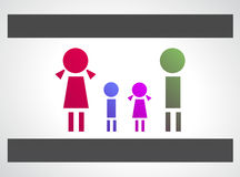 Family design concept background Royalty Free Stock Photography