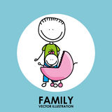 Family design Stock Image