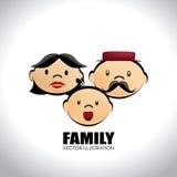 Family design. Over white background,vector illustration Stock Photos