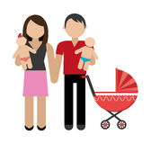 Family design, vector illustration. Stock Image